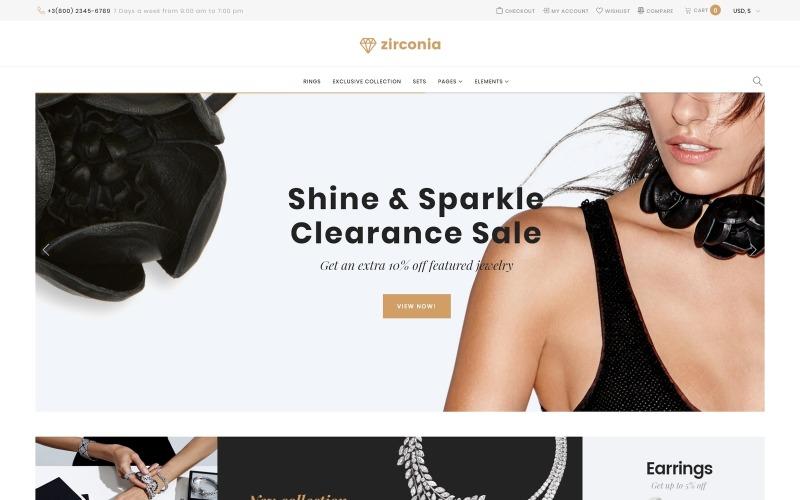 Zirconia - Адаптивная тема для магазина ювелирных изделий и аксессуаров WooCommerce