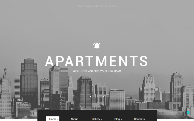 Apartmanok Weboldal Sablon