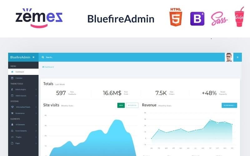 Bluefire - Multipurpose Modern Dashboard Admin Template
