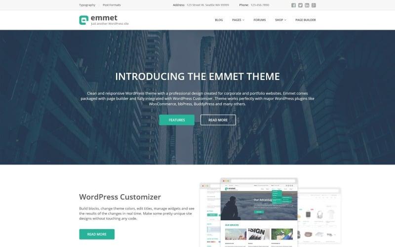 Emmet Multipurpose WordPress Theme
