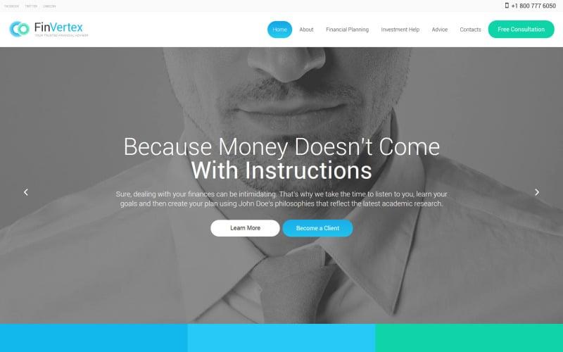 FinVertex Website Template