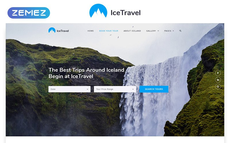 Ice Travel - Travel Agency Multipage Classic HTML5 Website Template