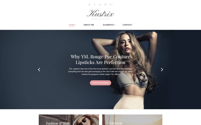 Kustrix Website Template