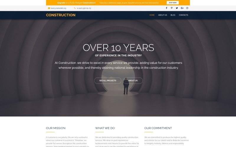 Plantilla Joomla moderna gratuita para empresa de construcción