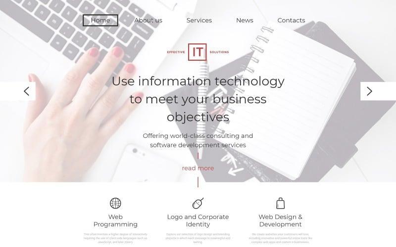 Шаблон веб-сайта эффективных ИТ-решений