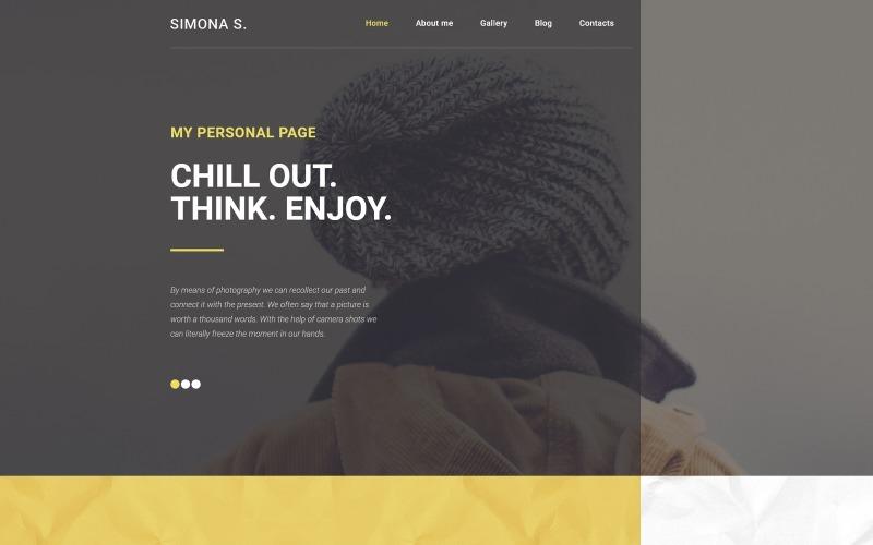 Simona S WordPress-tema
