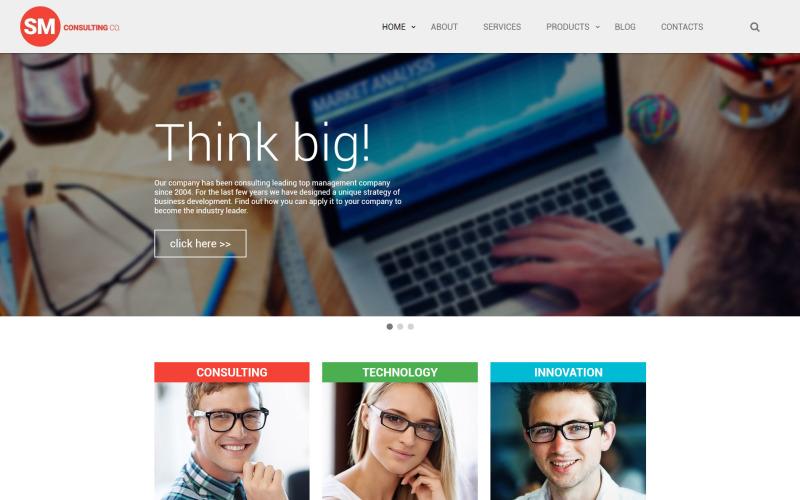 Website-Vorlage von SM Consulting Co.