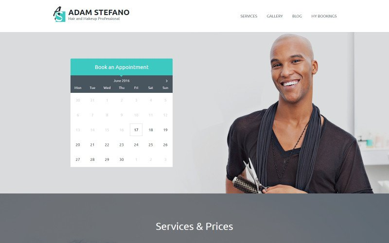 Adam Stefano - Hair & Makeup Professional WordPress Theme