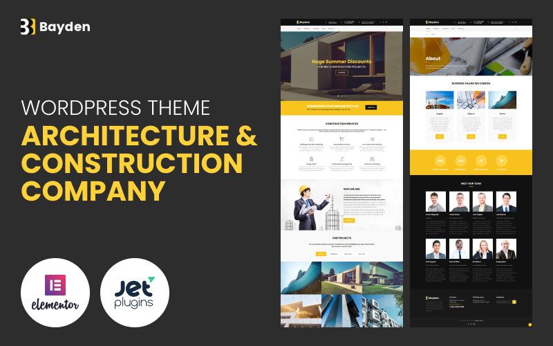 Bayden - адаптивная тема WordPress для архитектурной и строительной компании