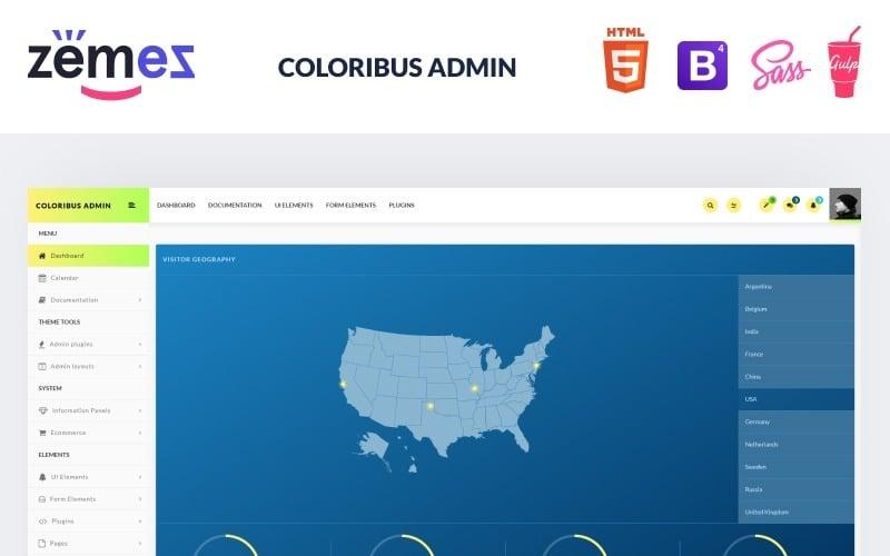 Coloribus Admin - Multifunctional Dashboard Clean Admin Template