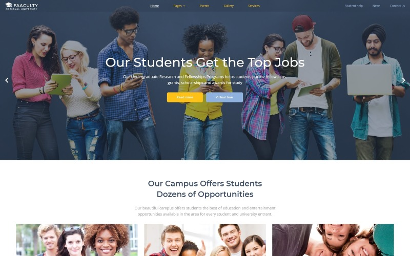 Faaculty - University Multipage Modern Joomla Template
