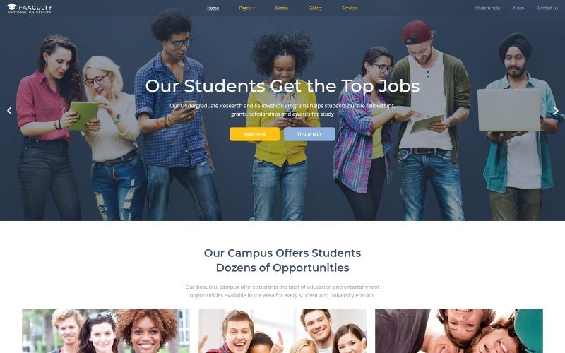 Факультет - Університетський багатосторінковий сучасний шаблон Joomla