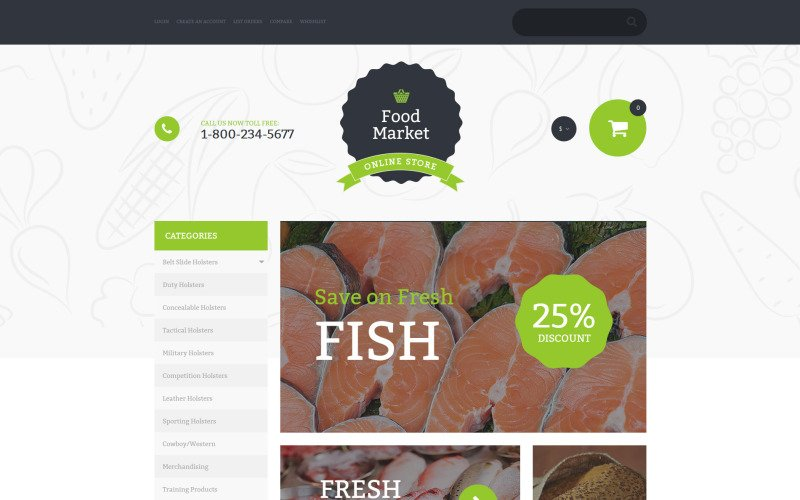 Food Market VirtueMart Template