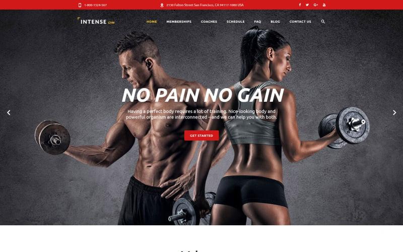 Intense Gym Website Template