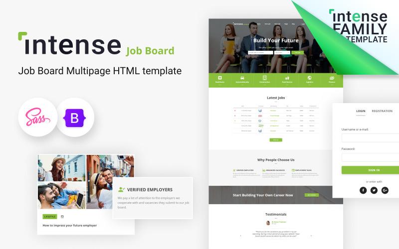 Intense - Job Board HTML5 Website Template