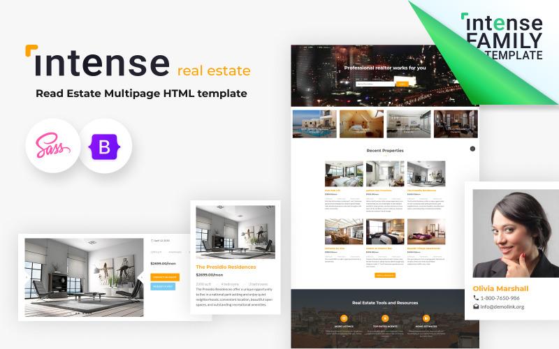 Intense - Real Estate HTML5 Website Template
