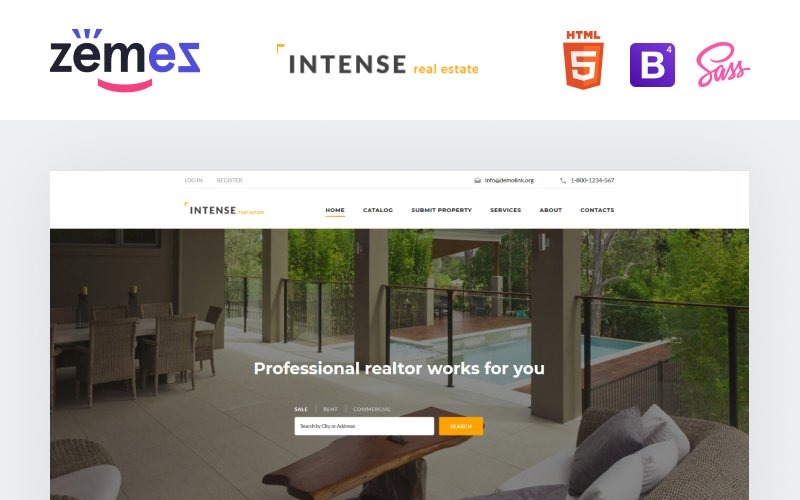 INTENSE Real Estate Website-Vorlage