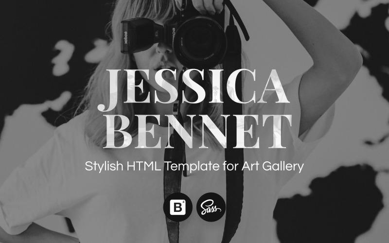 INTENSO Modelo de site de portfólio de fotógrafos