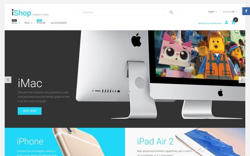 iShop - Tema Magento para dispositivos electrónicos