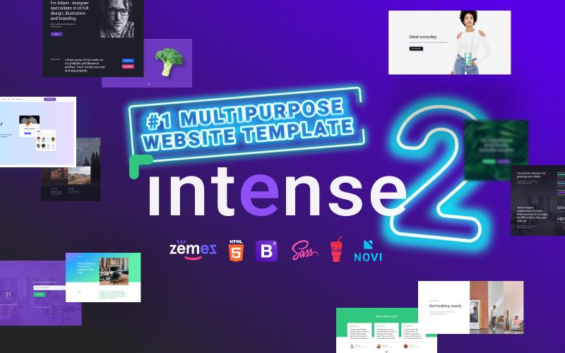 Многоцелевой Intense - шаблон веб-сайта HTML Bootstrap №1