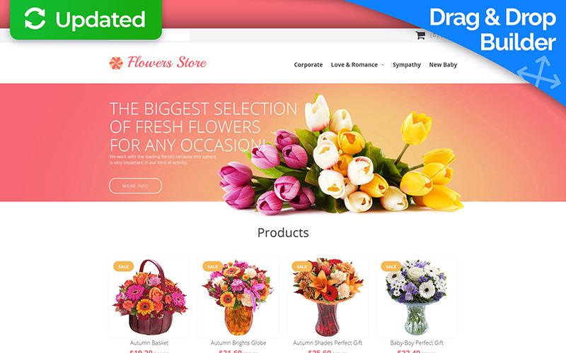 Modèle de commerce électronique MotoCMS Flower Shop