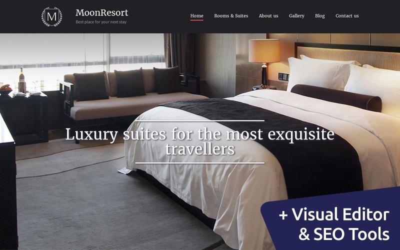 MoonResort - Luxury Hotel Moto CMS 3 Template
