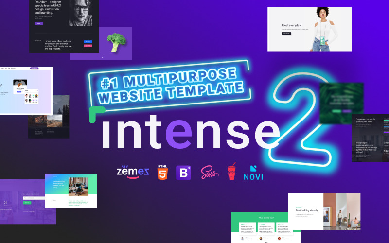 Multipurpose Intense - # 1 HTML Bootstrap webbplats mall