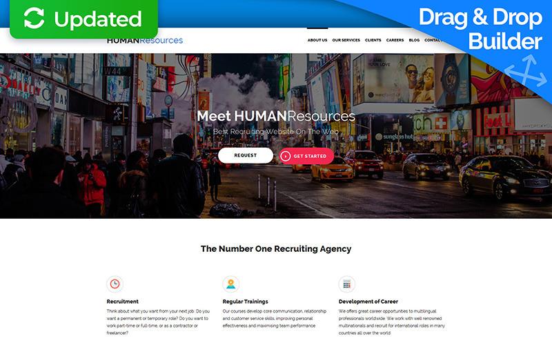Шаблон Human Resources Moto CMS 3
