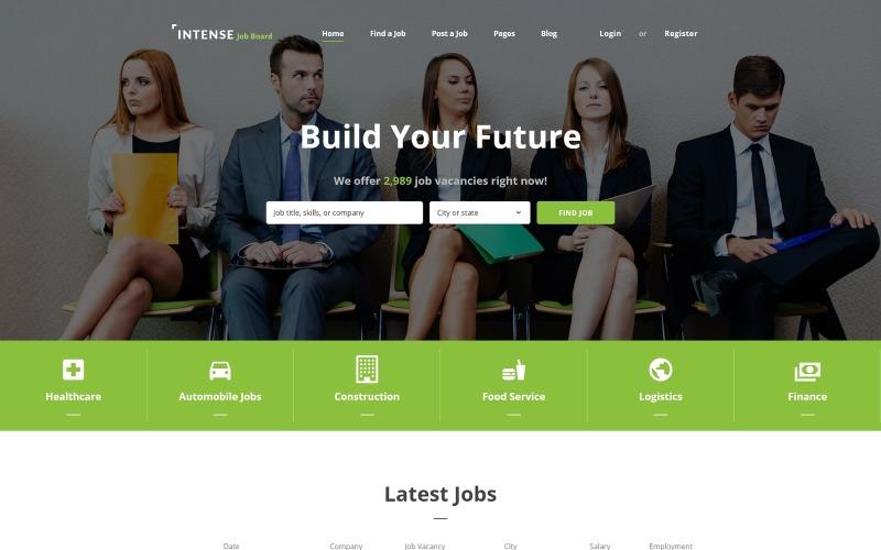Шаблон сайта INTENSE Job Board