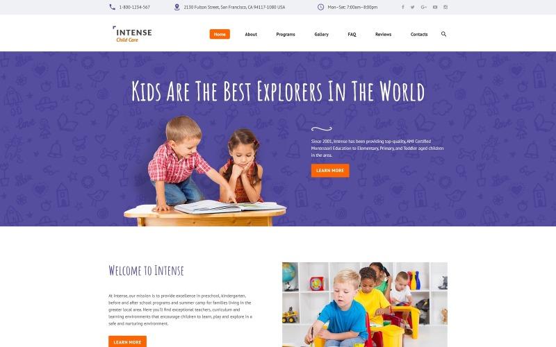 Шаблон сайта интенсивного ухода за детьми