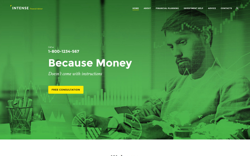 Шаблон веб-сайта интенсивного финансового консультанта