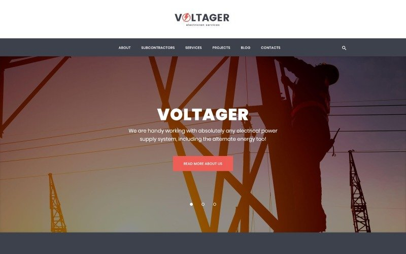 Voltager - Electricity & Electrician Services WordPress Theme