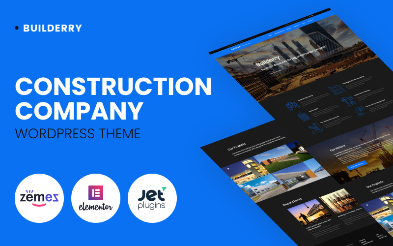 WordPress motiv Builderry - stavební společnost