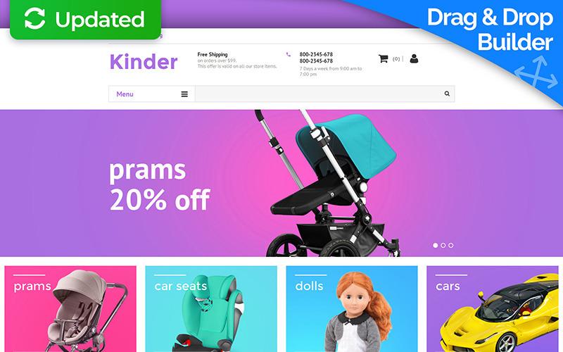 Bebek Mağazası MotoCMS E-ticaret Şablonu