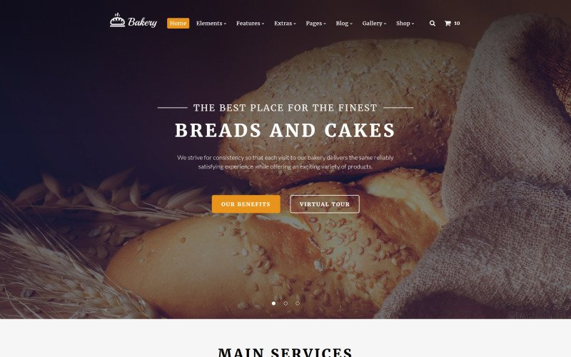 Bakery Multipurpose Website Template