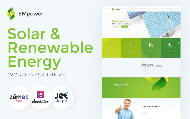 EMpower - Solar & Renewable Energy WordPress Theme