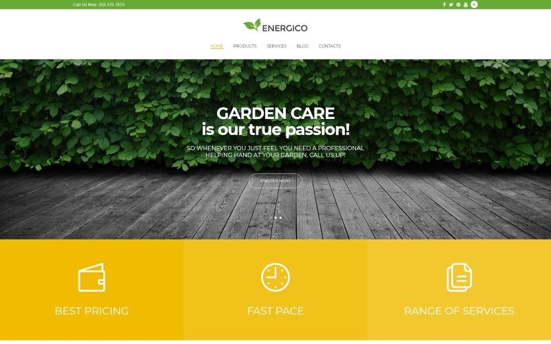 Energico - WordPress téma reagující na zemědělství a péči o zahradu