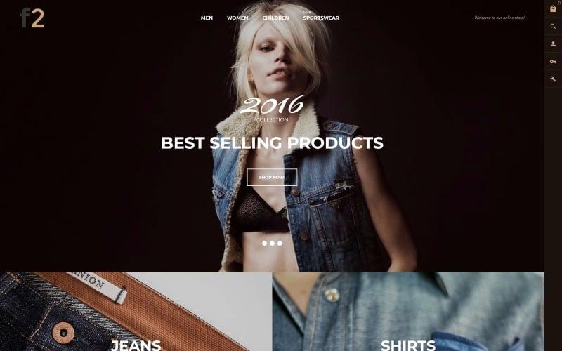 F2 - Magentotema för modebutik