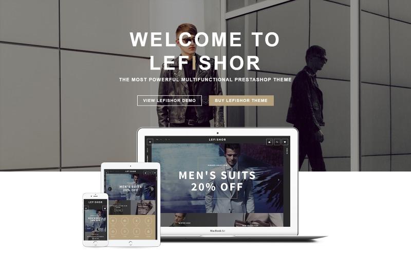 Lefishor - Mens Clothes  Accessories PrestaShop Theme