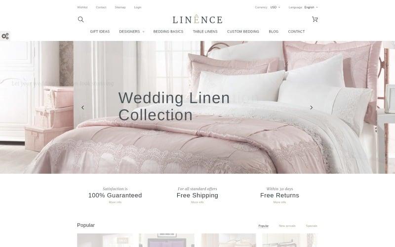 Linence - Tema de PrestaShop Ropa de cama