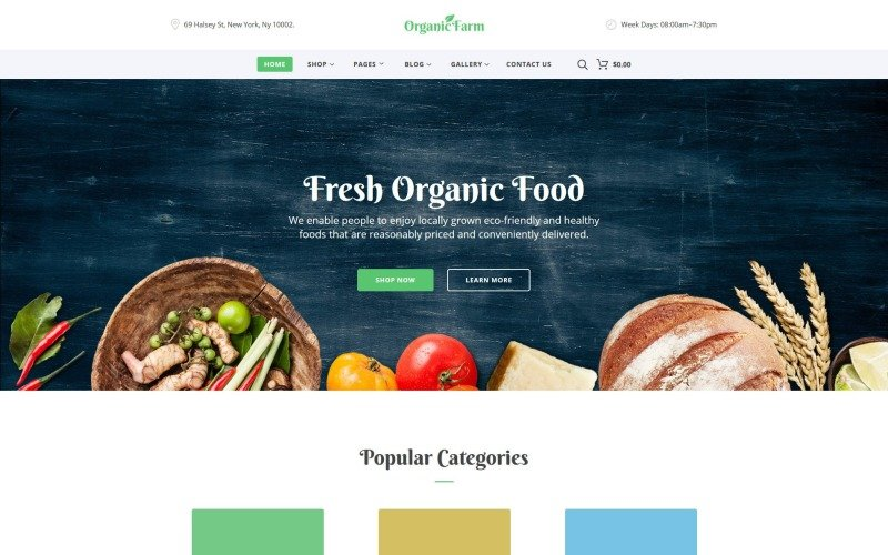 Organic Farm -  Food & Drink Multipage Creative HTML Bootstrap Website Template