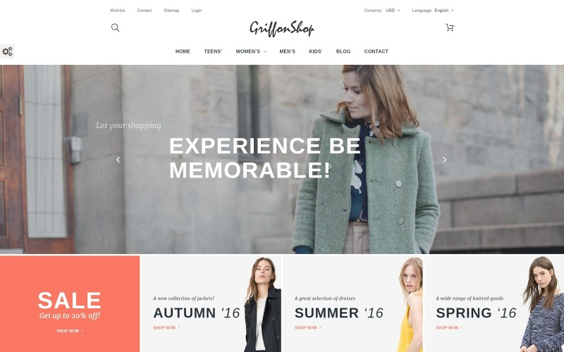 Griffon Shop - Klädsel PrestaShop Theme
