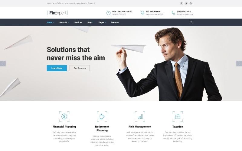 Шаблон веб-сайта финансового консультанта
