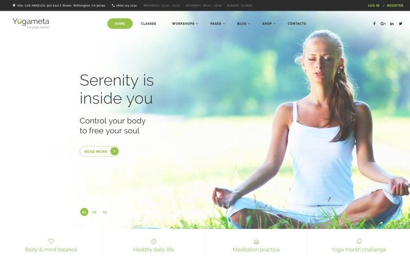 Шаблон веб-сайта Yogameta