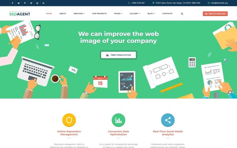 SEO Web Sitesi Duyarlı Web Sitesi Şablonu