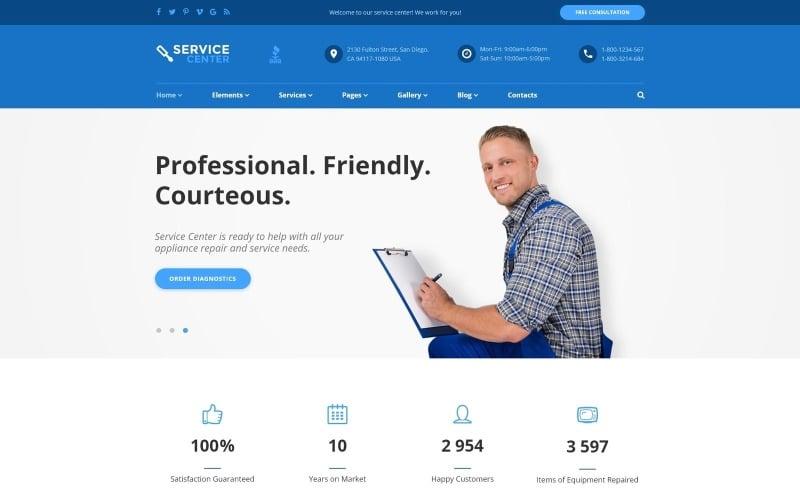 Service Center Website Template
