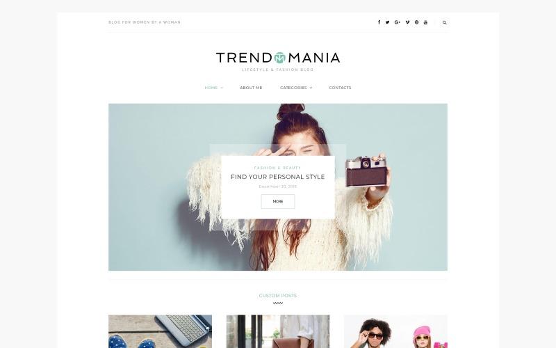 Trendomania - Tema de WordPress para blogs de estilo de vida y moda