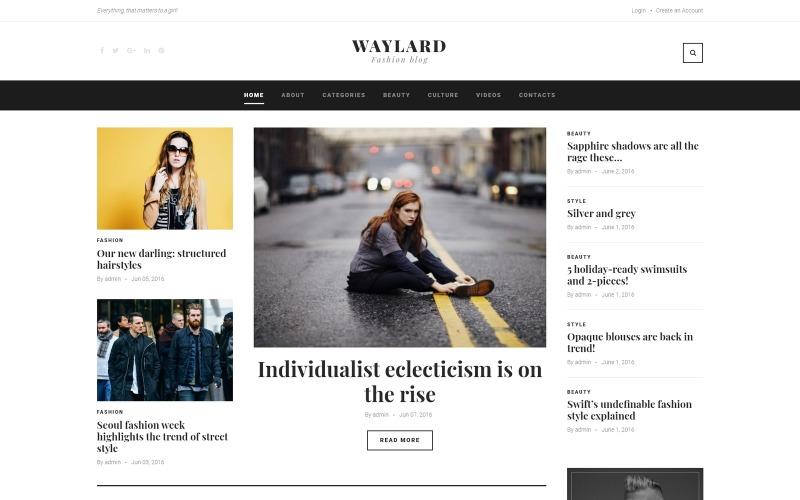 Waylard - WordPress-tema för modeblogg och tidskrifter