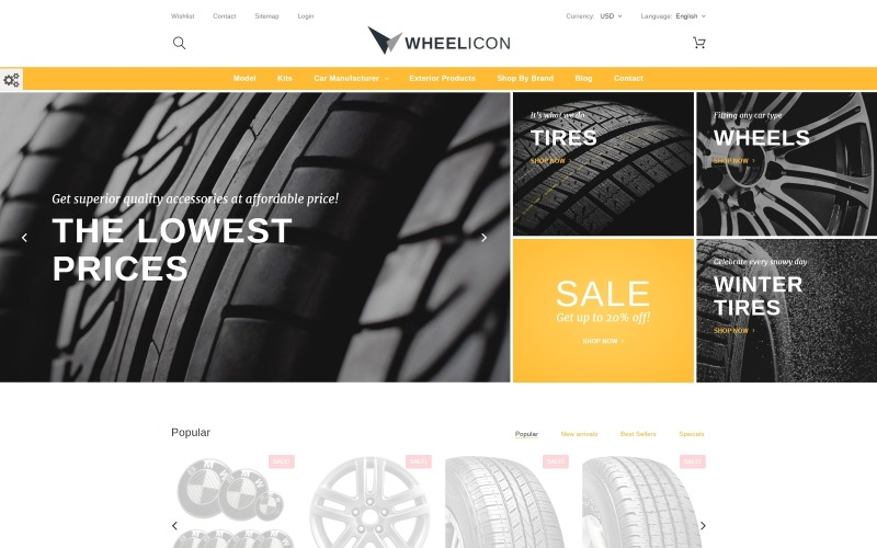 Wheelicon PrestaShop-Thema