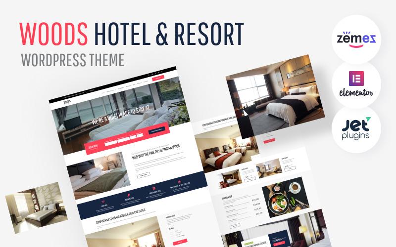 Woods Hotel - Tema WordPress per hotel e resort